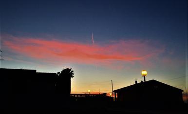Posta de sol rogenca a Fondarella