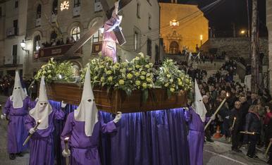 El silenci de Bellpuig obre la Setmana Santa