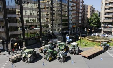 Tractorada en Lleida