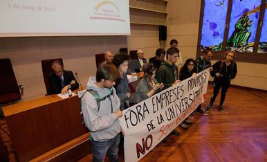 Boicot d'estudiants a un acte de la UdL