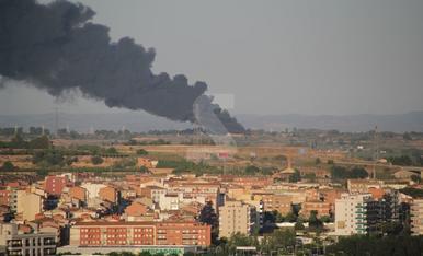 Espectacular incendi a Lleida