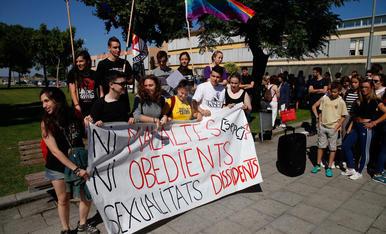 Manifestació d'alumnes