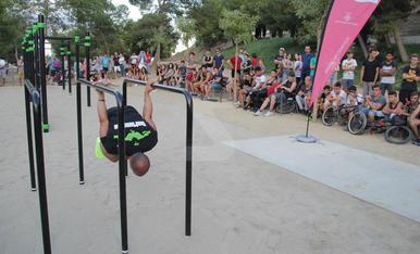 Estrena del parc de 'street workout' de Santa Cecília