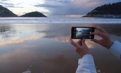 La platja de la Cocnha en Sant Sebastiá, la més fotografiada i visitada, una de les més boniques del món.