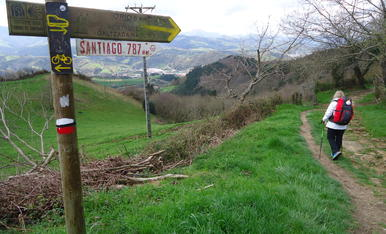 Cami a Sanitiago de Compostel.la, només em queden 787 Kms, i amb molts ànims, fent  la variant del Cami del Nord (Pais Basc)