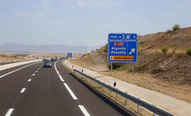 Inauguració del tram de l'A-14 entre Lleida i Rosselló