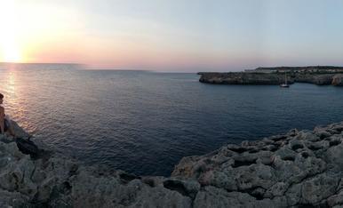 Expectacular posta de sol a Menorca