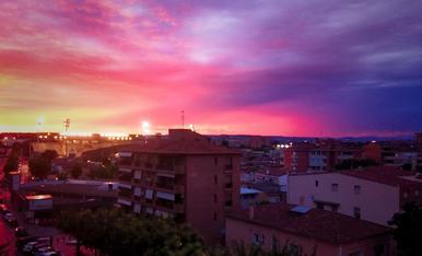 Un cop passada la tormenta d'estiu, el cel ens regala aquest espectacle de colors