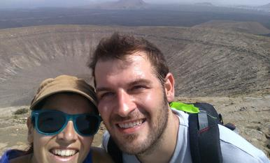 Al cim del volcà Caldera Blanca. Lanzarote.