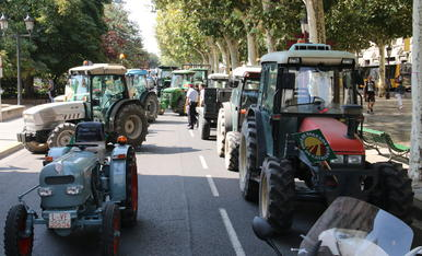 © Tractorada d'UP a Lleida per la crisi de preus