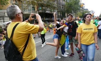 Imatges de la manifestació 'Diada del Sí'