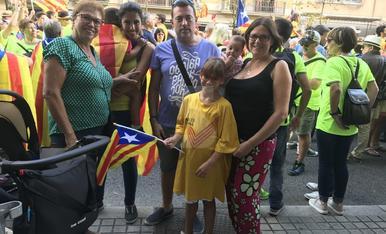 La manifestació 'La Diada del Sí'