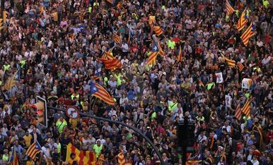 Concentració a l'avinguda Catalunya de Lleida