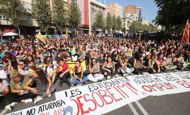 Manifestació d'estudiants aquest dijous a Lleida