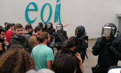 Càrregues policials a Lleida