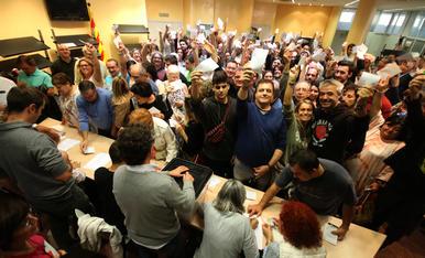 © Lleida vota malgrat la pressió policial