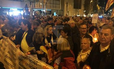 Concentració a Lleida per la llibertat de Sànchez i Cuixart