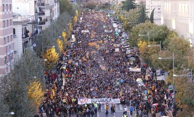 Manifestació 5 de novembre en rebuig als 'presos polítics'