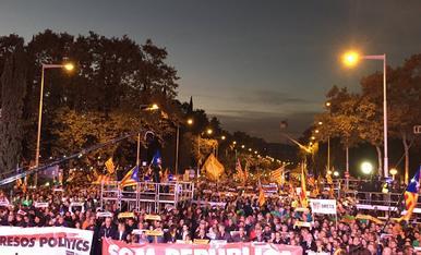 """Manifestació a Barcelona per la llibertat dels """"presos polítics"""""""