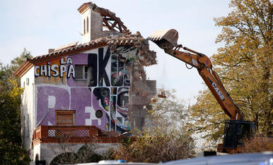 Desallotjament de la casa okupada La Chispa de Lleida