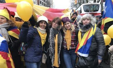 Imatges de la manifestació a Brussel·les