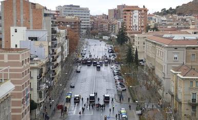 Imágenes del traslado de las obras de Sigena del Museu de Lleida