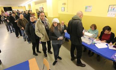 Imatges de la jornada electoral del 21D