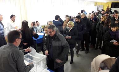 Imágenes de la jornada electoral del 21D