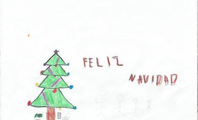 -La meva familia al nadal esperan els regals arribin a casa davall de l'arbre. Iker Martin 5anys