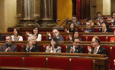 Imatges de la sessió de constitució del Parlament