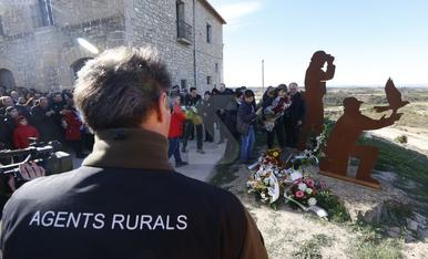 Homenaje en el primer aniversario del doble crimen de Aspa