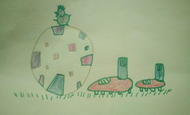L'Ízan té 5 anys i és de Balaguer. Ha dibuixat una pilota del Barça.(Telf.670085405 )
