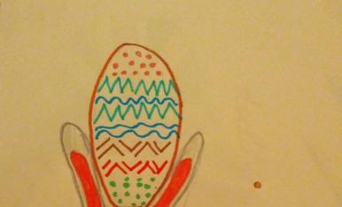 La Núria de 9 anys dibuixa el seu conillet preferit
