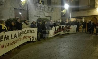 Concentracions contra els empresonaments ordenats pel Suprem