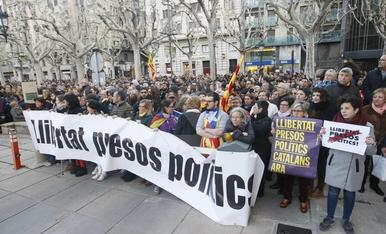 Protestes a Lleida després de la detenció de Puigdemont
