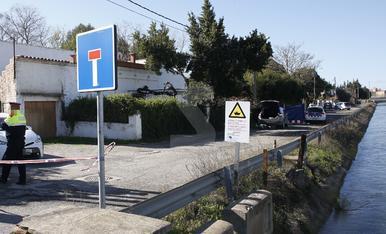 El lloc on l'home s'ha suïcidat amb tret al pit després de se acorralat pels Mossos d'Esquadra.