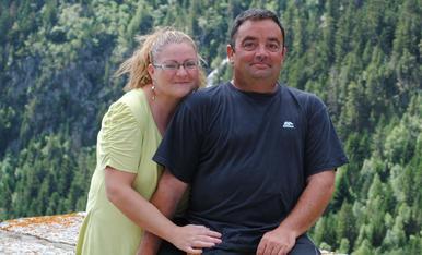 Un día inolvidable en el pirineo de Lleida.  Manolo y Esther,disfrutando  por muchos momentos asi.
