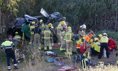 © Salva la vida en un aparatós accident a Mafet