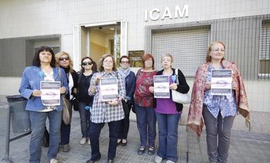 Imatge d'arxiu d'una protesta d'afectats de fibromiàlgia.