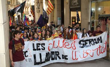 © Desigual protesta d'estudiants