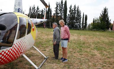 Calleja grava a Penelles pel programa 'Volando voy'