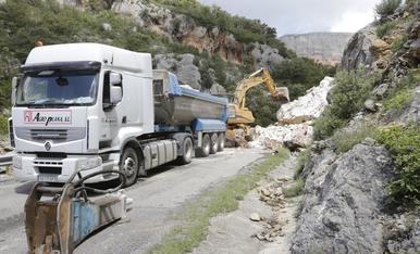 Derrumbamiento en Vilanova de Meià