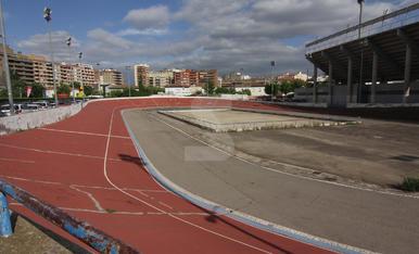 Aquest és l'estat en què es troba el velòdrom de Lleida