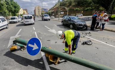 Espectacular xoc a Lleida