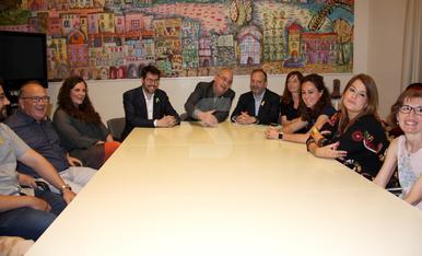 © Bargalló apoya a los maestros de La Seu d