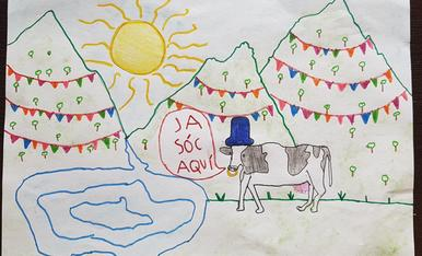 L'Iván Blanes de 7 anys us presenta la vaca del festival que ja pastura ben aprop d'Esterri ben protegida del sol. Jordi Blanes Fontalba cl Ferrer i Busquets 119 4-2 (25230) Mollerussa T.687547314