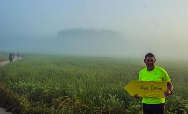 Niebla en el Camino de Santiago a finales de junio