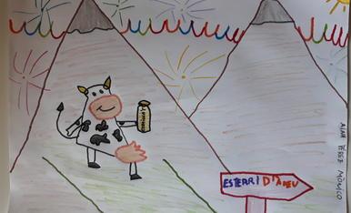 Tinc sis anys i la meva vaca amb la beguda del festival Esbaiola't està apropant-se a Esterri d'Àneu