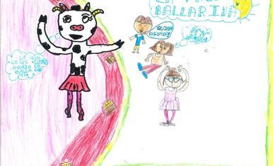 Soc la Paula i tinc 11 anys. Us envío la vaca de l'Esbaiola't animant als nens i nenes a ballar amb ella!!!
