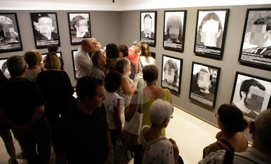 Inauguració de l'exposició 'Presos Polítics' a Balaguer